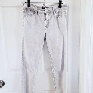 abercrombie light gray skinny jeans